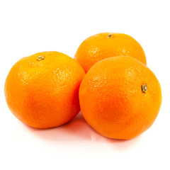 Clementines  isolated on white.