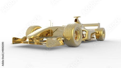 Gold race car