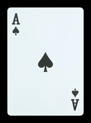 Playing cards - Ace of spades