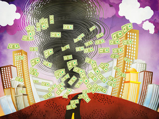 Grunge financial tornado