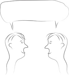 Two men speech bubble