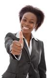Lächelnde erfolgreiche Afrikanerin
