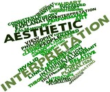 Word cloud for Aesthetic interpretation poster