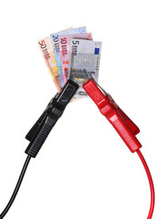 european currency in jump-start cables