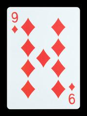 Playing cards - Nine of diamonds