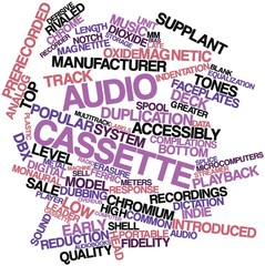 Word cloud for Audio cassette