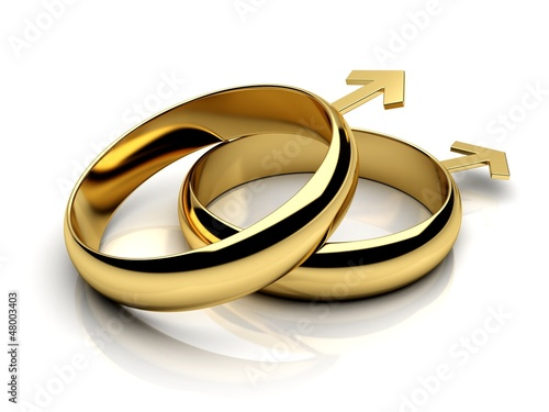 Gay male wedding rings