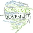 Word cloud for Consumer movement