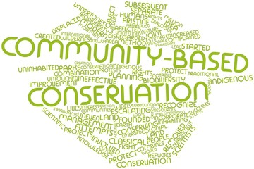 Word cloud for Community-based conservation