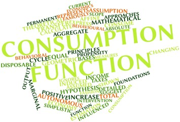Word cloud for Consumption function