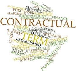 Word cloud for Contractual term