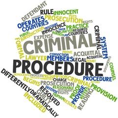 Word cloud for Criminal procedure