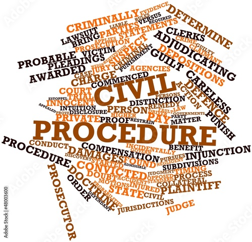 Word cloud for Civil procedure