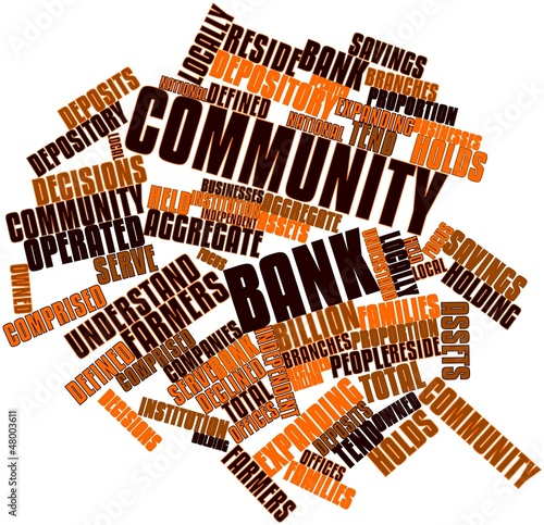 Word cloud for Community bank