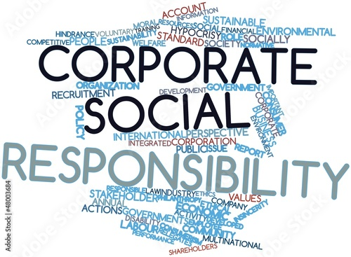 Word cloud for Corporate social responsibility