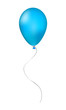 Blue inflatable balloon
