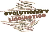Word cloud for Evolutionary linguistics