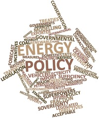 Word cloud for Energy policy