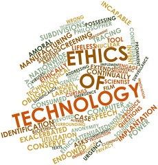 Word cloud for Ethics of technology