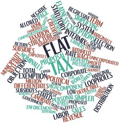 Word cloud for Flat tax