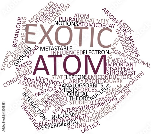 Word cloud for Exotic atom