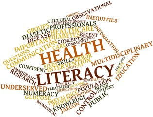 Word cloud for Health literacy