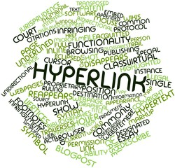 Word cloud for Hyperlink