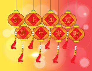 xin zheng ru yi xin nain fa cai - Chinese Auspicious Word