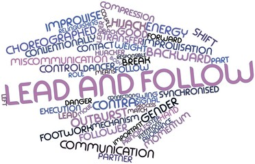 Word cloud for Lead and follow
