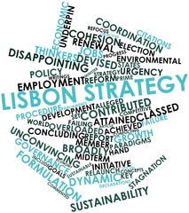 Word cloud for Lisbon Strategy