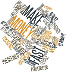 Word cloud for Make Money Fast