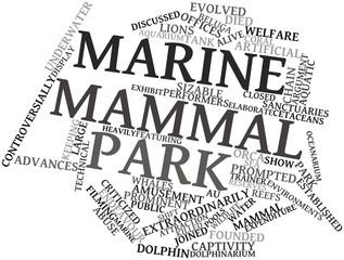 Word cloud for Marine mammal park