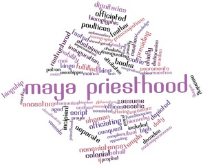Word cloud for Maya priesthood