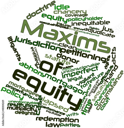 Word cloud for Maxims of equity