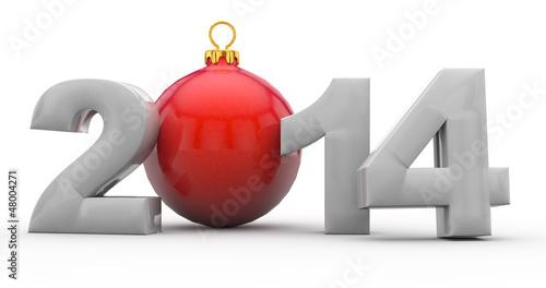 Weihnachten 2014 mit Christbaumkugel