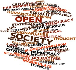 Word cloud for Open society