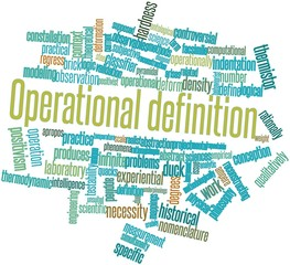 Word cloud for Operational definition