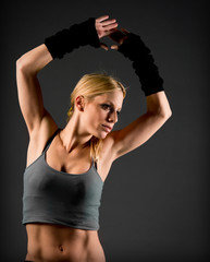 Fit woman muscle definition