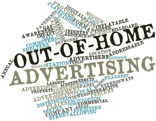 Word cloud for Out-of-home advertising
