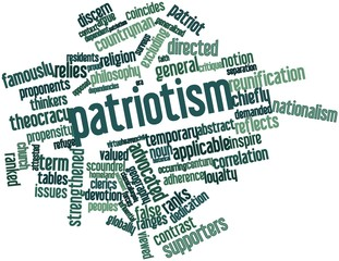 Word cloud for Patriotism