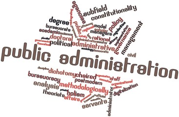 Word cloud for Public administration
