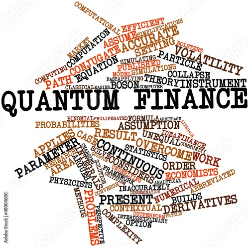 Word cloud for Quantum finance