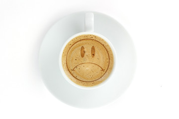 smile painted on coffee