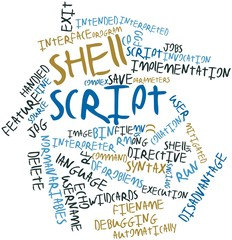 Word cloud for Shell script