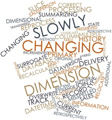 Word cloud for Slowly changing dimension