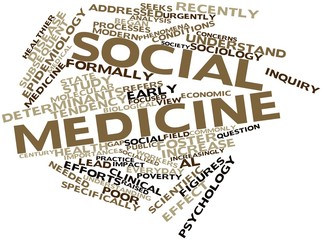 Word cloud for Social medicine