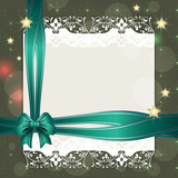 Note with turquoise ribbon for your text