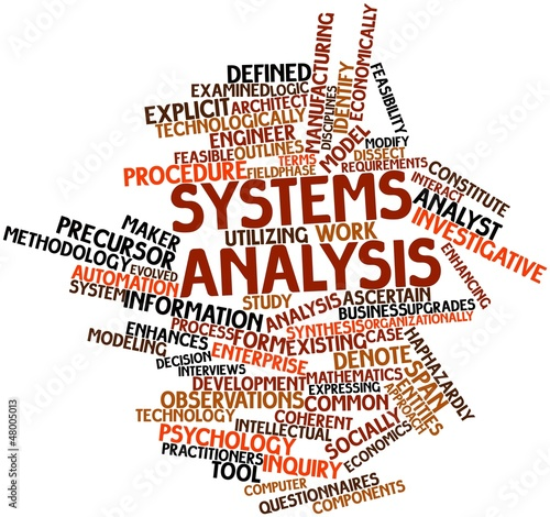 Word cloud for Systems analysis