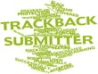 Word cloud for Trackback submitter