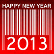 2013 new years vector illustration with barcode